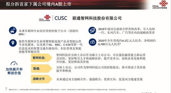 中国联通拟分拆子公司上市车联网公司先探路